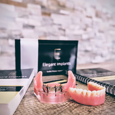 Our Elegant Dentistry desk with some things on top